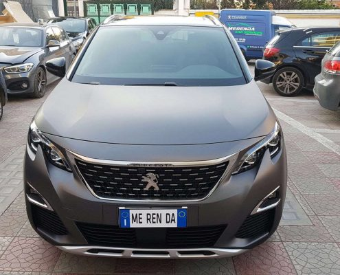 Peugeot 3008 Car wrapping pellicola nera