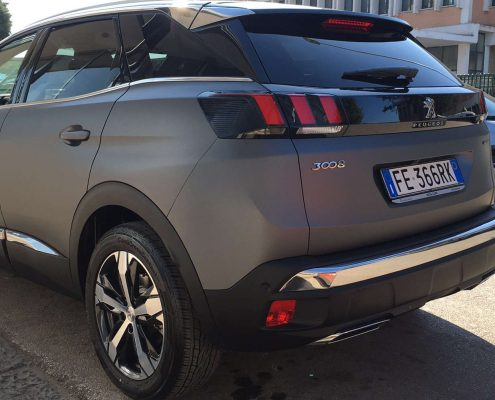 f Peugeot 3008 Car wrapping pellicola nera 3m