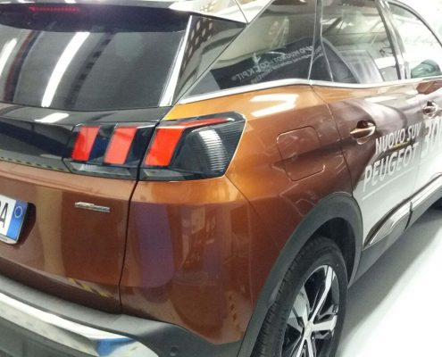 posteriore peugeot 3008 senza Car wrapping